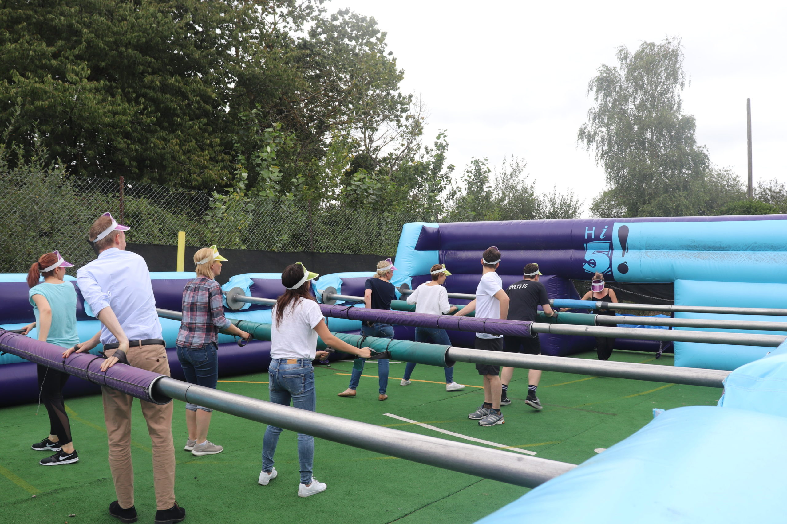 school team building gallery human table football