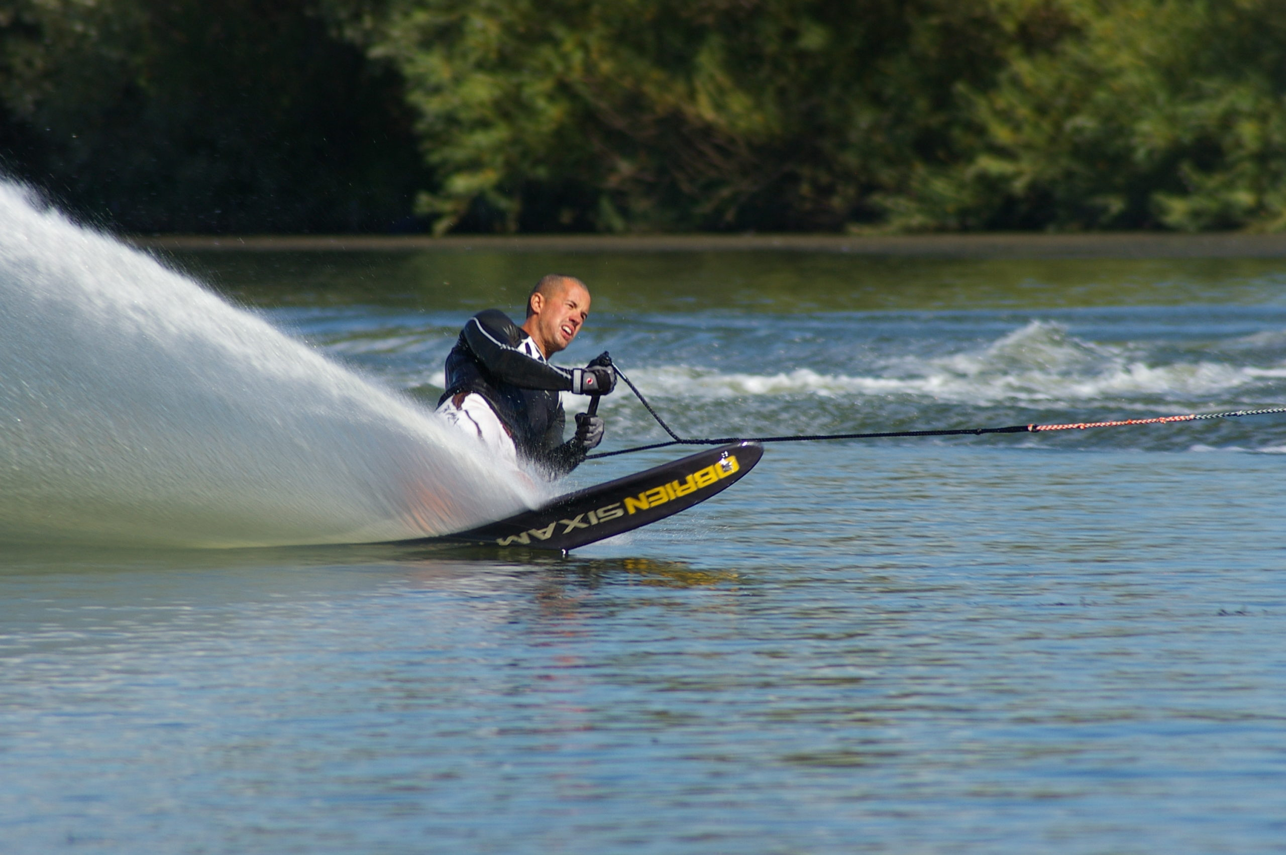 activities gallery with slalom water skier on the lake