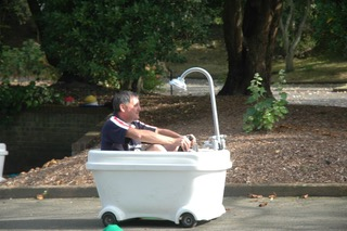 activities gallery motorised bath tub racing around the course